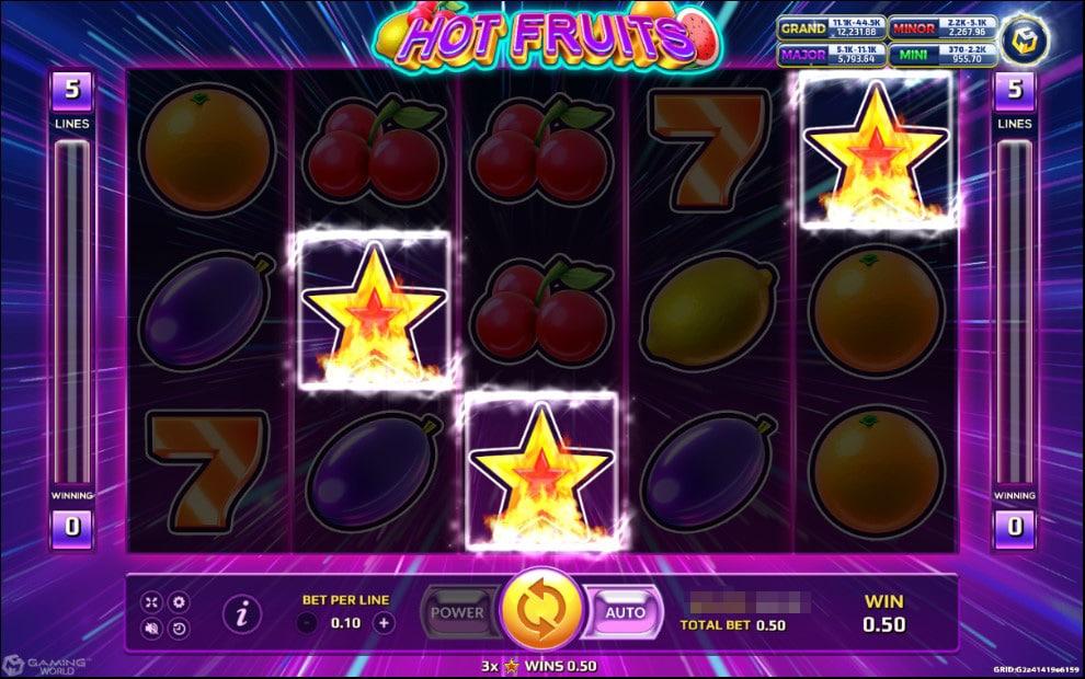เกม HOT FRUITS -เหล่าผลไม้