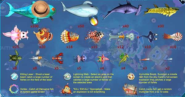 """เกมยิงปลา """"Fish Hunter SpongeBob จากค่าย JOKER"""